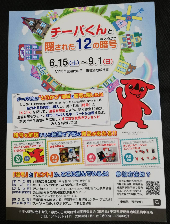 松戸市チーバくんと隠された12の暗号
