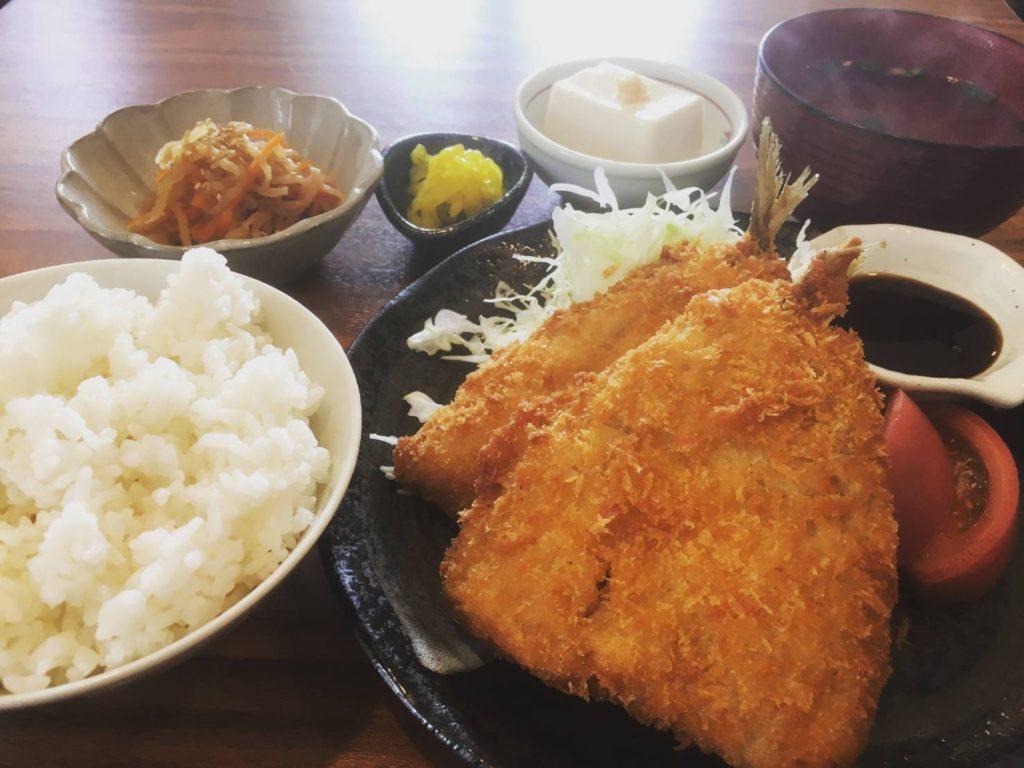 定食アジフライ海鮮丼大漁丼家松戸稔台