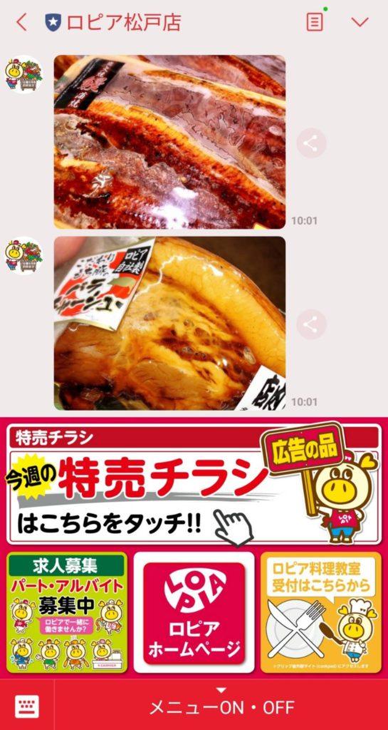 ラインチラシロピア松戸店キテミテマツド