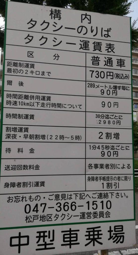 タクシー八柱テラスモール松戸