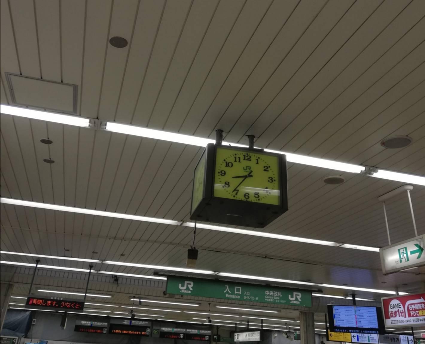 台風19号松戸駅前