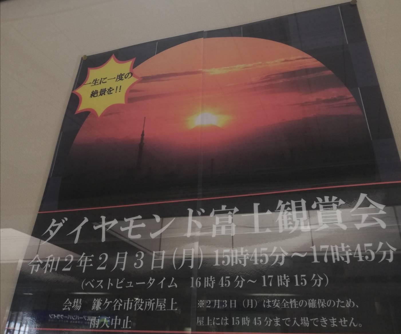 ダイヤモンド富士2020鑑賞会鎌ヶ谷市役所