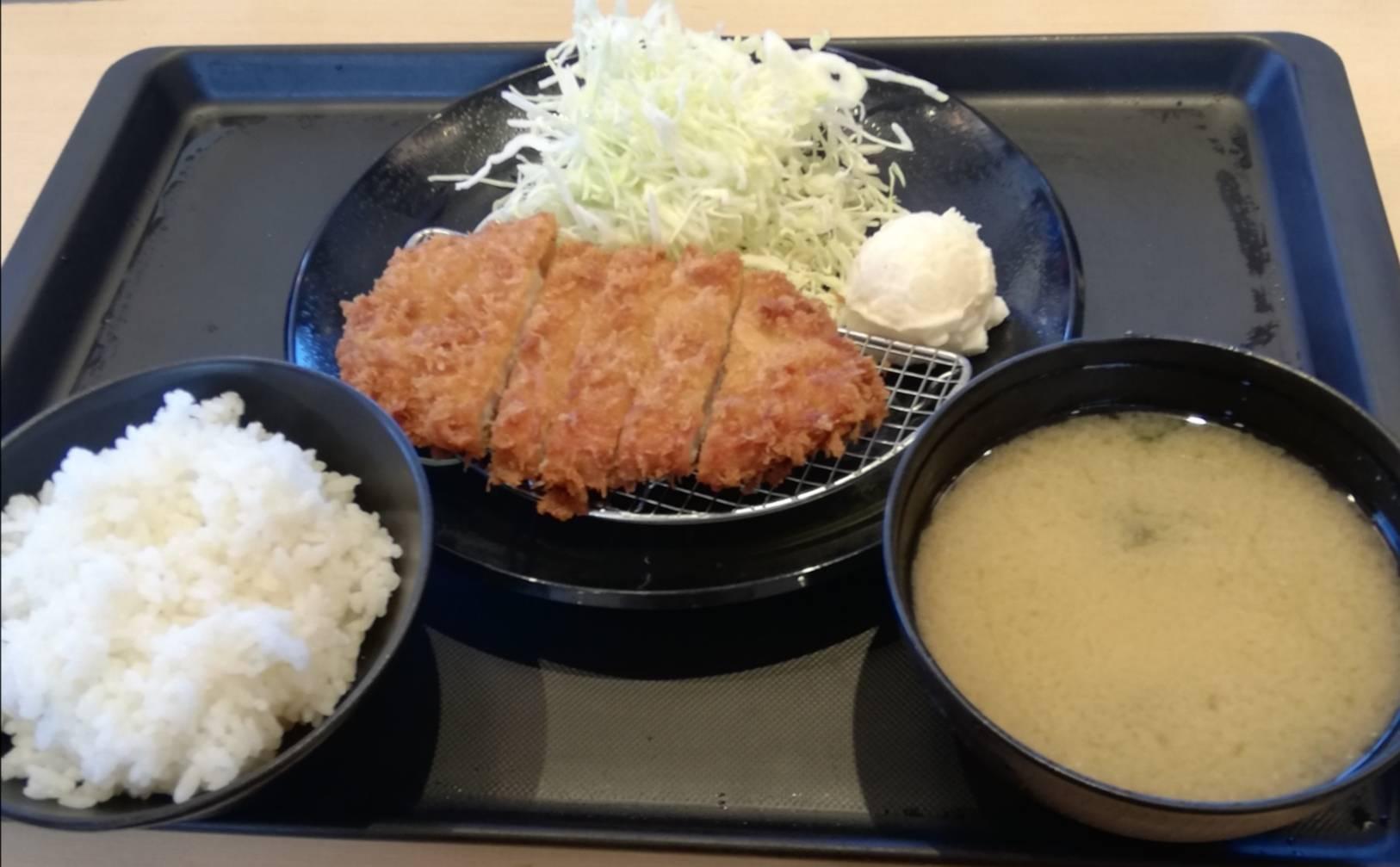 松のや松戸新田店ごはんみそ汁お替り無料