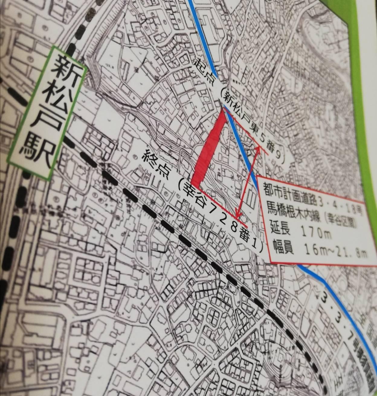新松戸駅東側再開発道路