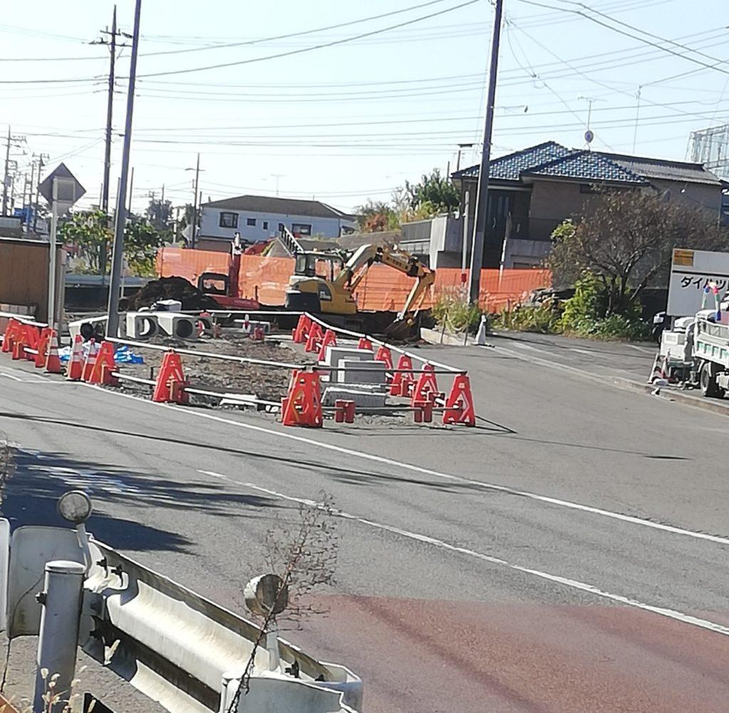 紙敷道路改良工事新しい道