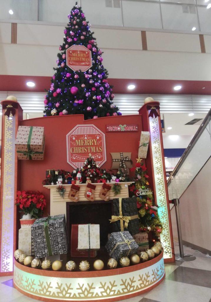 アクロスモール新鎌ヶ谷クリスマスツリー2020