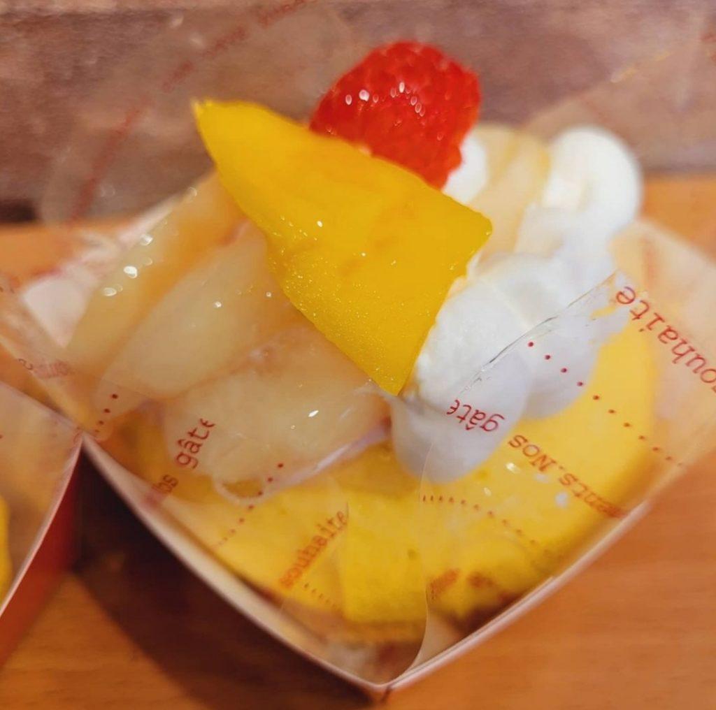 桃とマンゴームース