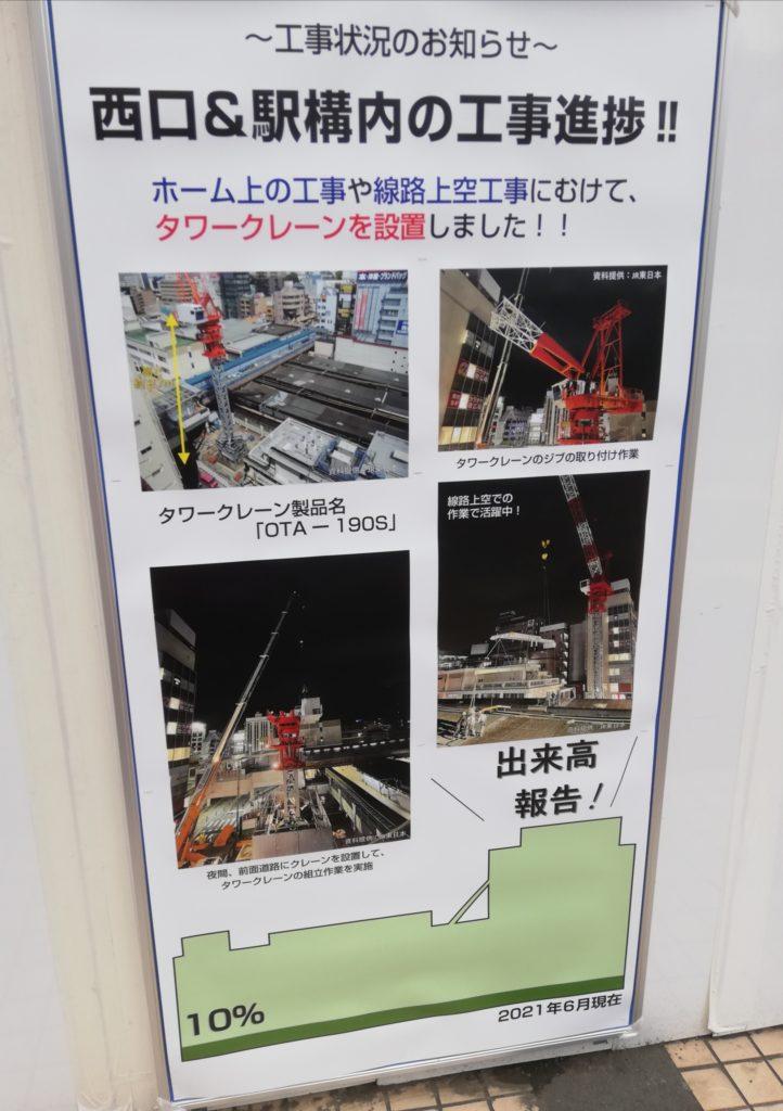 2021年6月松戸駅工事