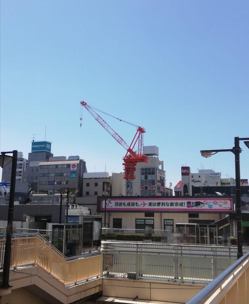 松戸駅東口タワークレーン