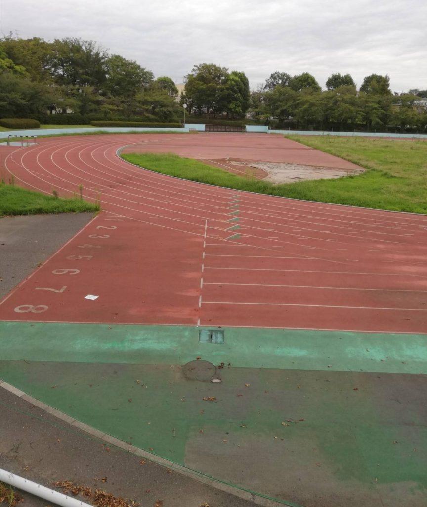 松戸運動公園の改修工事を現地確認、陸上競技場の人工芝工事状況、2020 ...