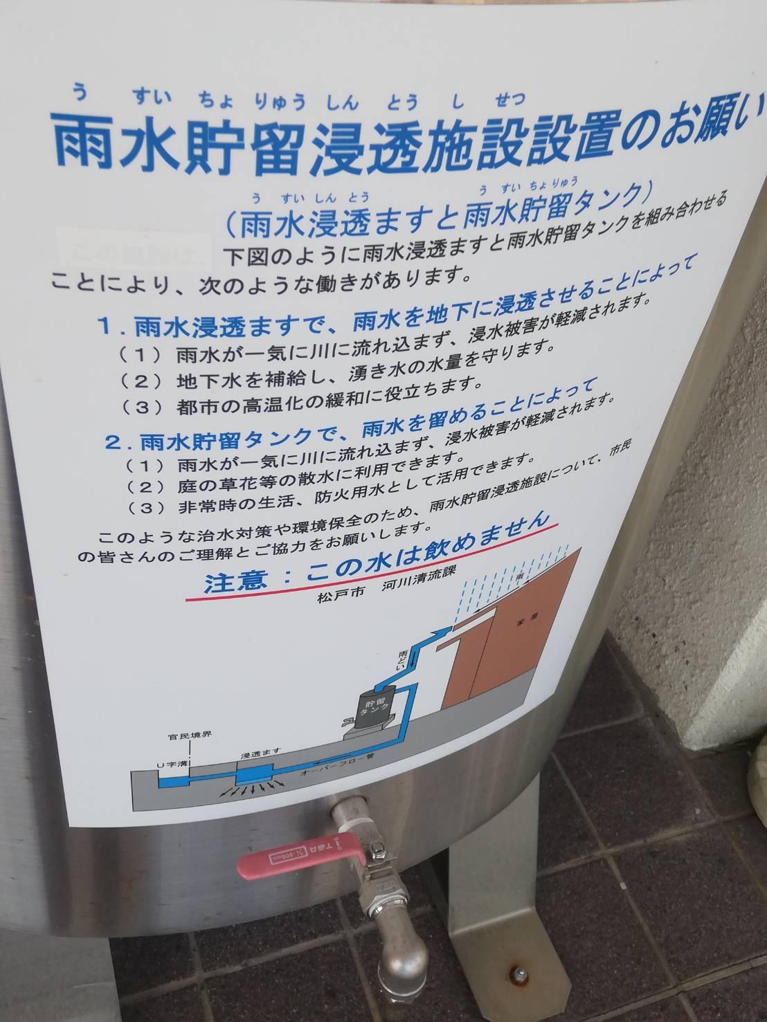 雨水貯水タンク松戸市補助金