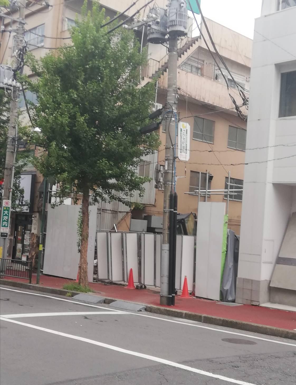 ココイチJR北松戸駅前店跡地ビル解体