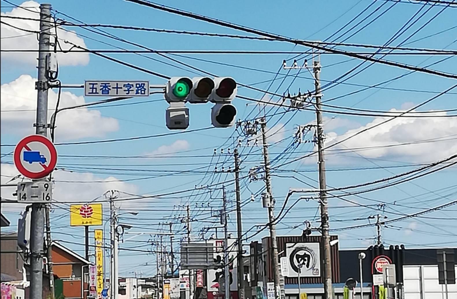 五香十字路迂回東武鉄道踏切工事通行止め