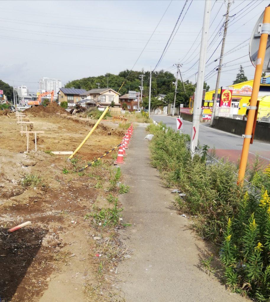 松戸道路計画・新設道路(高塚十字路から東松戸駅間の紙敷)が歩道も ...