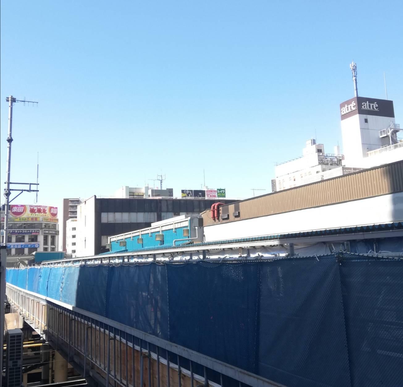 松戸駅ビル再開発2021駅ホーム工事