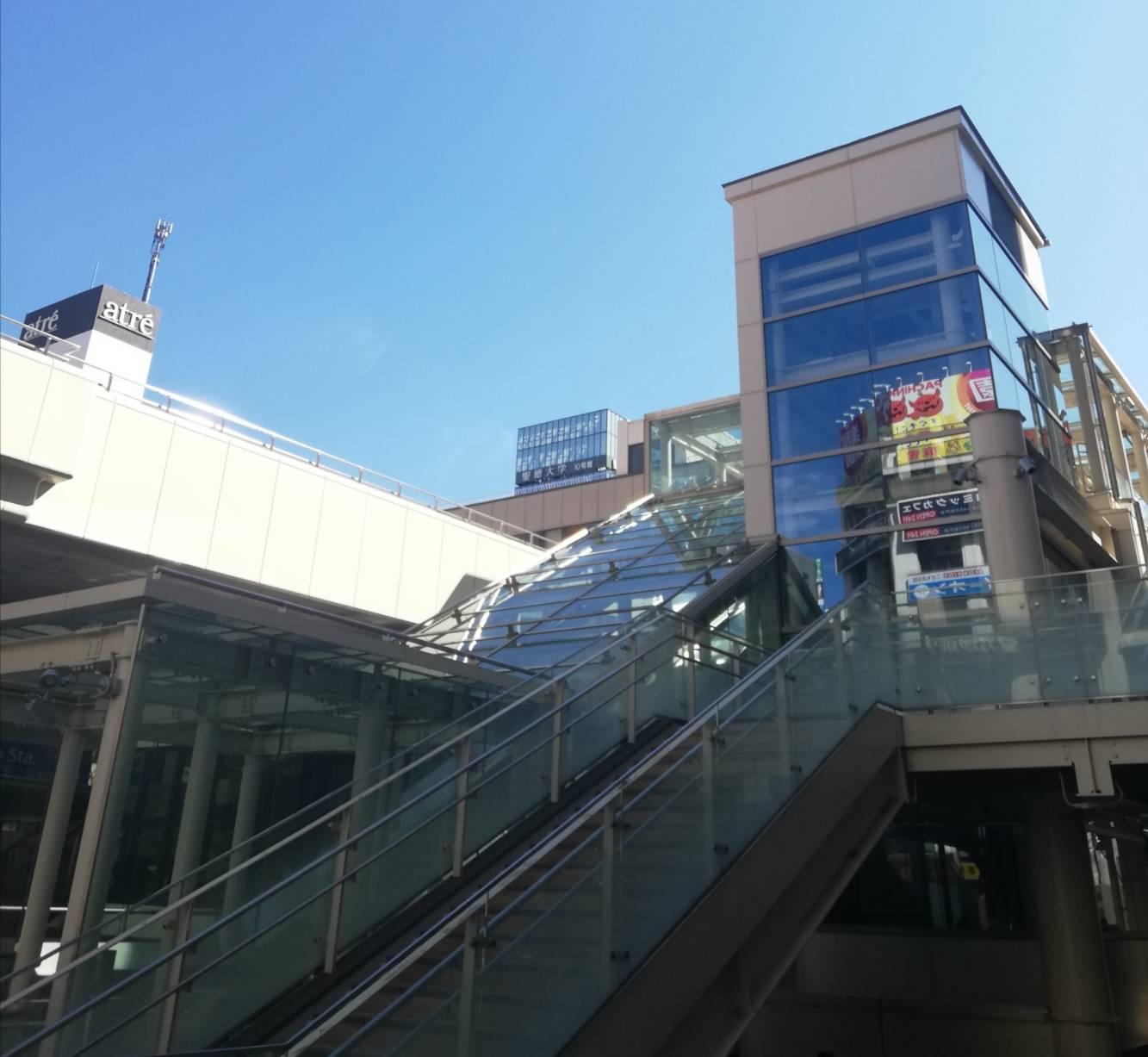 松戸駅西口駅前広場エスカレーター