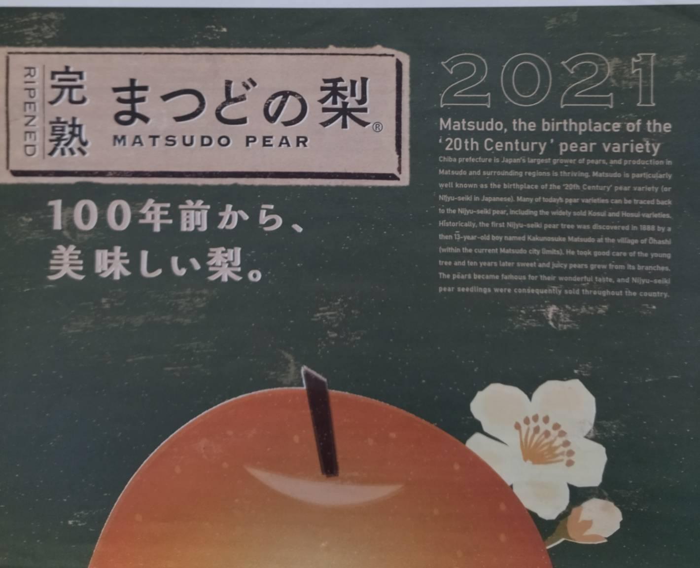 松戸の梨2021松戸の梨街道
