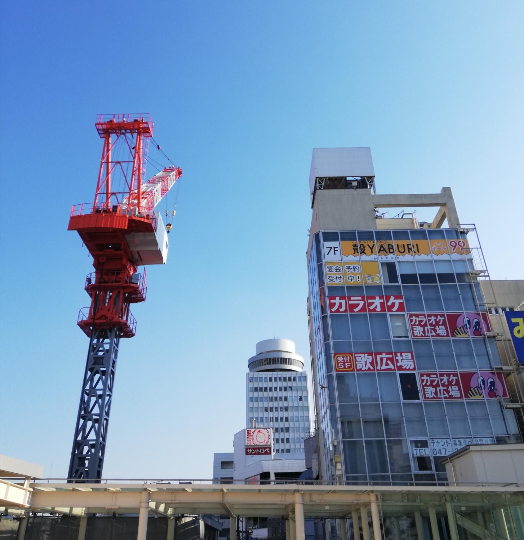 松戸駅建設進捗状況様子